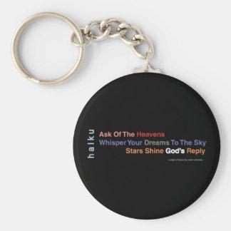 Inspirational Modern Haiku Keychain