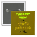 Inspirational Motivating Hiking Quote Typography 15 Cm Square Badge