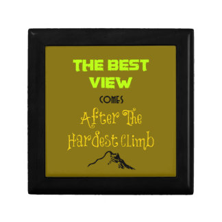Inspirational Motivating Hiking Quote Typography Trinket Boxes