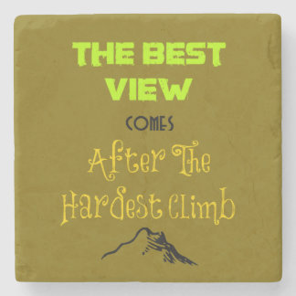 Inspirational Motivating Hiking Quote Typography Stone Coaster