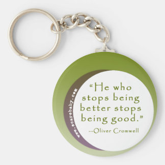 Inspirational Motivating Quote for Winners Key Ring