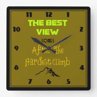 Inspirational Motivating Quote Typography Wall Clocks