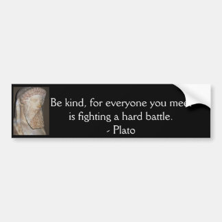 Inspirational Motivational Plato quote Bumper Sticker