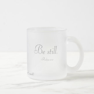 Inspirational Frosted Glass Mug