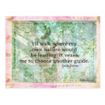 Inspirational nature quote by Emily Bronte Post Card