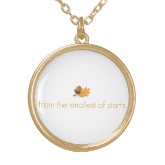 "Inspirational necklace ""from small starts""!"