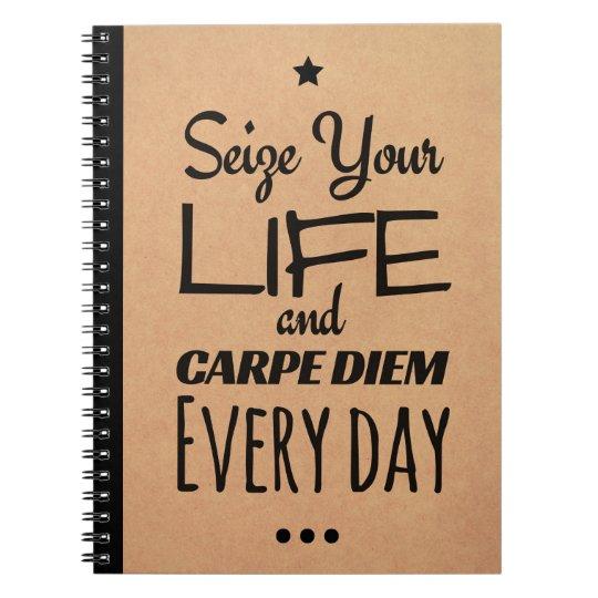 Inspirational Notebook for Motivation: Carpe Diem!