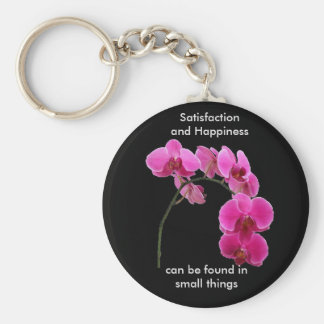 Inspirational Orchid Key Ring