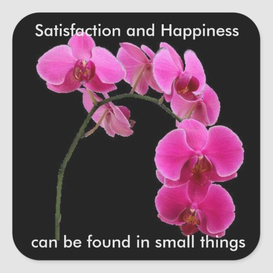 Inspirational Orchid Square Sticker