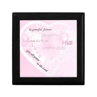 inspirational pink keepsake box