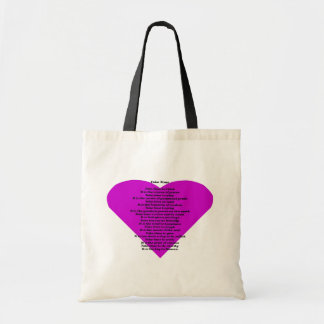 Inspirational Poem Canvas Bag