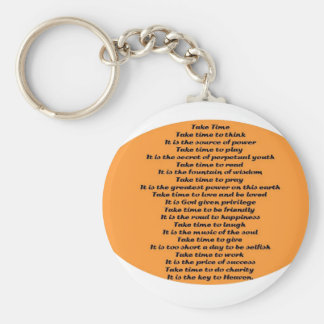 Inspirational Poem Basic Round Button Key Ring