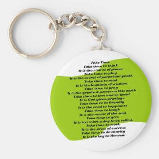 Inspirational Poem Basic Round Button Key Ring