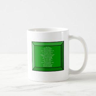 Inspirational Poem Basic White Mug