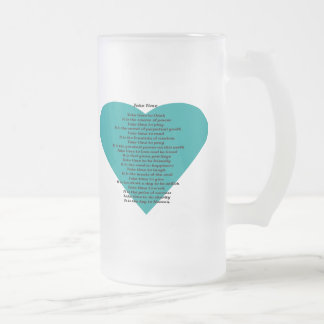 Inspirational Poem Frosted Glass Mug