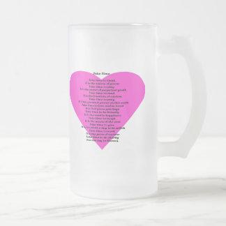 Inspirational Poem Frosted Glass Mug
