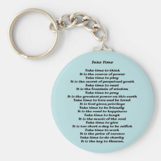 Inspirational Poem Key Ring