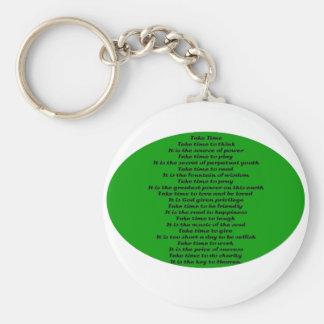 Inspirational Poem Key Chain