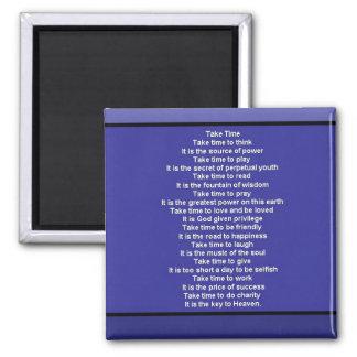 Inspirational Poem Square Magnet