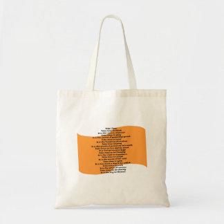 Inspirational Poem Tote Bags