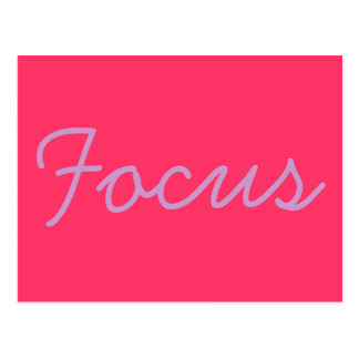 Inspirational postcard - focus