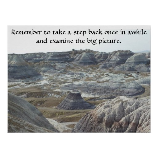 Inspirational Poster Take a Step Back