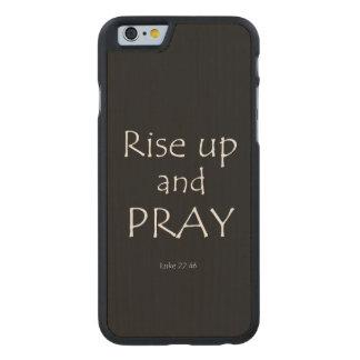 Inspirational Prayer Bible Verse Carved® Maple iPhone 6 Slim Case