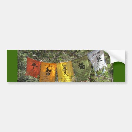 Inspirational Prayer Flags Bumper Sticker