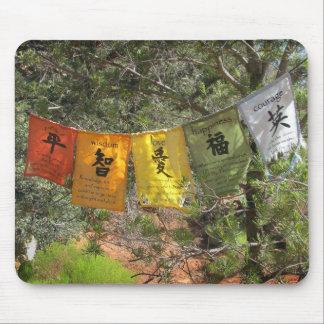 Inspirational Prayer Flags Mouse Mat