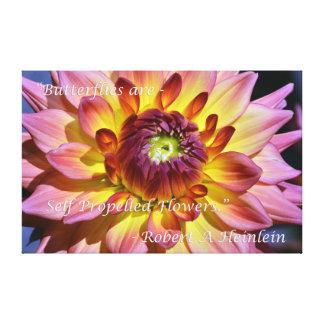 Inspirational print on beautiful Dahlia Canvas Prints