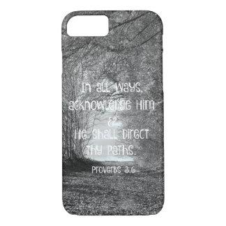 Inspirational Proverbs Bible Verse iPhone 7 Case