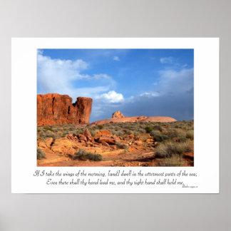 Inspirational Psalm 139:9-10 Poster
