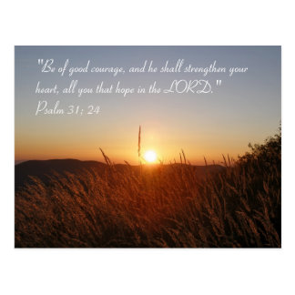 Inspirational   Psalm 31:24 Postcard