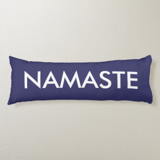 Inspirational Purple White Namaste Body Cushion