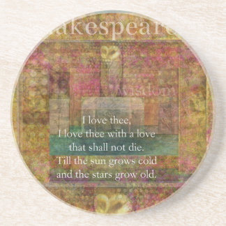 Inspirational quote about love by Shakespeare Beverage Coasters