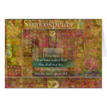 Inspirational quote about love by Shakespeare Card