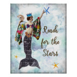 Inspirational quote art reach for the stars sign