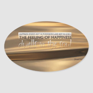 Inspirational Quote by Democritus Oval Sticker