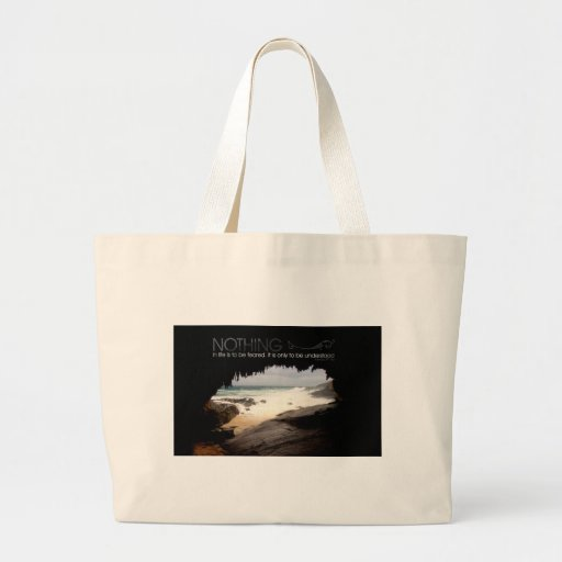 Inspirational Quote by Marie Curie Canvas Bags