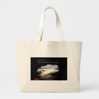 Inspirational Quote by Marie Curie Jumbo Tote Bag