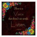 Inspirational Quote by Rumi Print