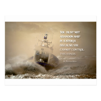 Inspirational Quote by St. Thomas More Postcard