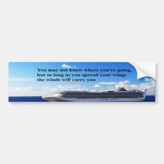 Inspirational quote Finding your way through life Bumper Sticker
