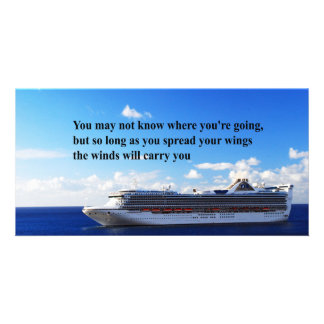 Inspirational quote Finding your way through life Customized Photo Card