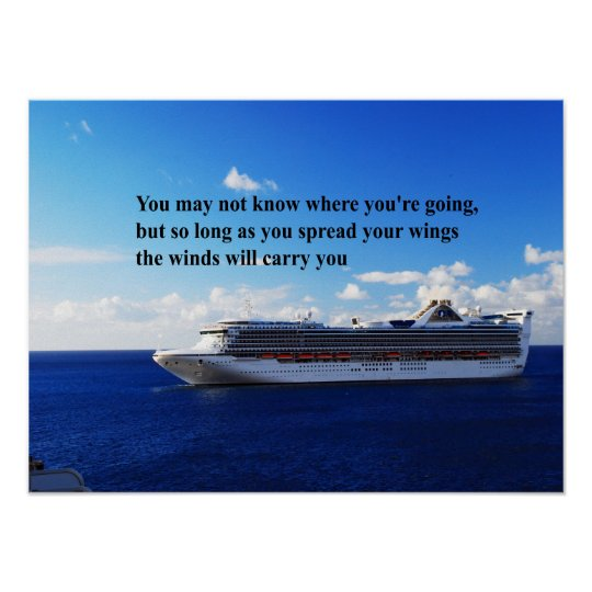 Inspirational quote Finding your way through life Poster