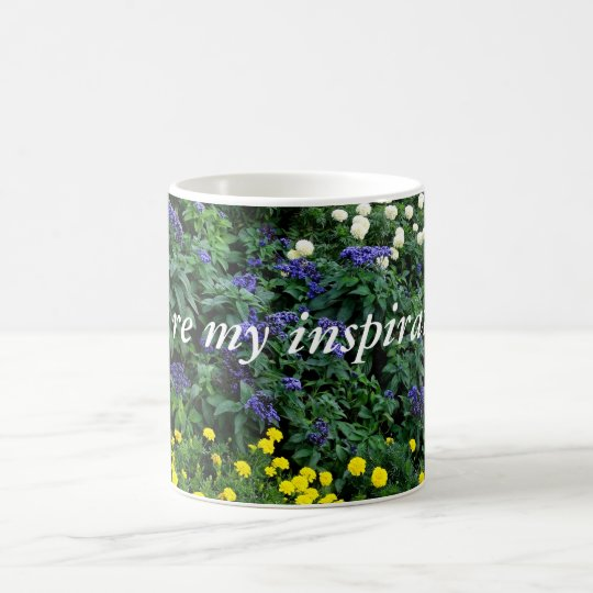 Inspirational Quote Flowers Photo Classic Mug
