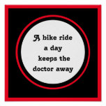 inspirational quote for cyclist poster