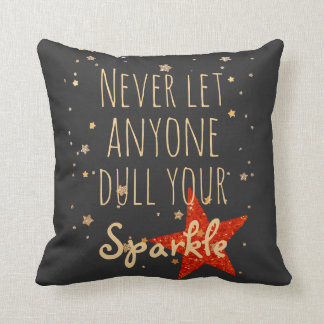 Inspirational Quote Girly Sparkle | Chalkboard Cushion