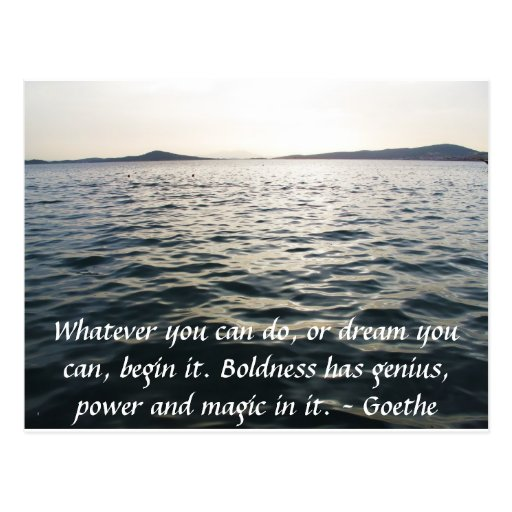 Inspirational Quote  GOETHE Postcards