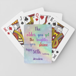 inspirational happy quotes playing cards zazzle uk